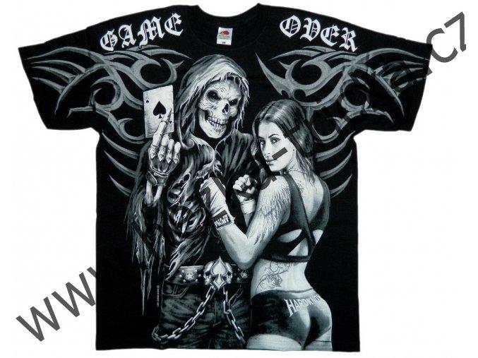 MMA tričko s celoplošným potiskem Game Over