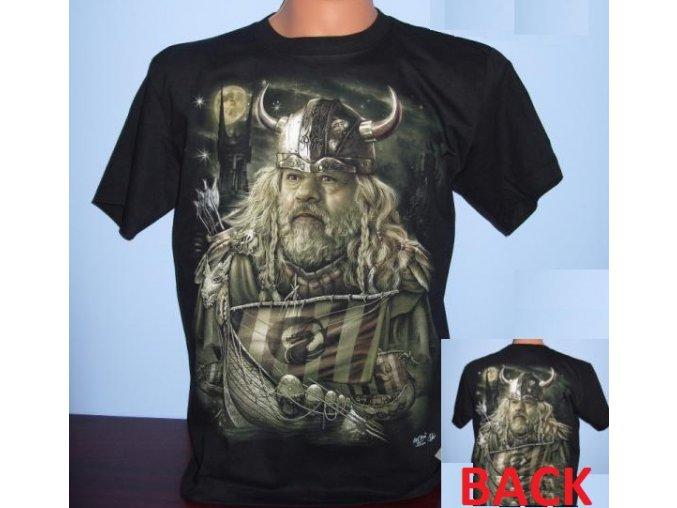 tričko, viking, jarl, drakar, svítící, fluorescenční potisk