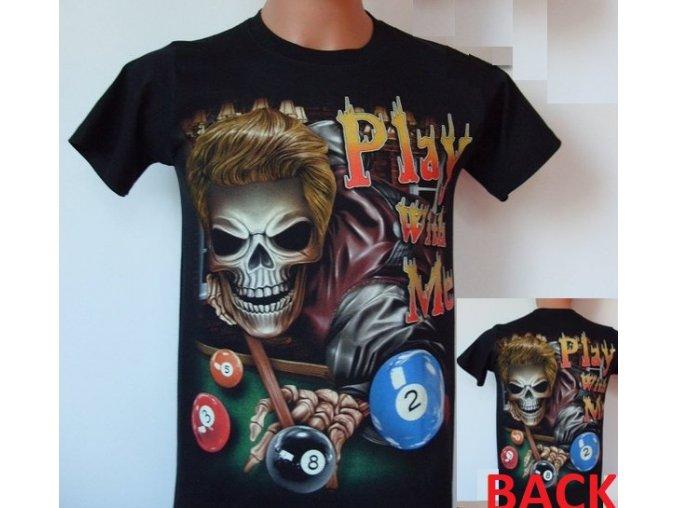 tričko, kostlivec, kulečník, rock eagle, svítící, fluorescenční potisk