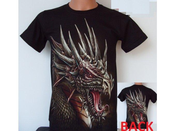 tričko, drak, černé, rock eagle, svítící, fluorescenční potisk