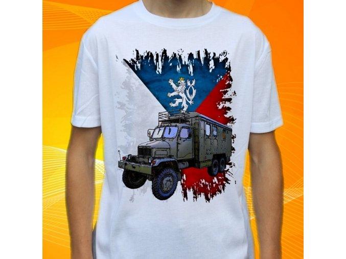 tričko, dětské, pánské, potisk, army, praga v3s