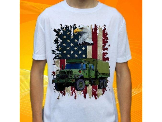 tričko, dětské, pánské, potisk, military, international