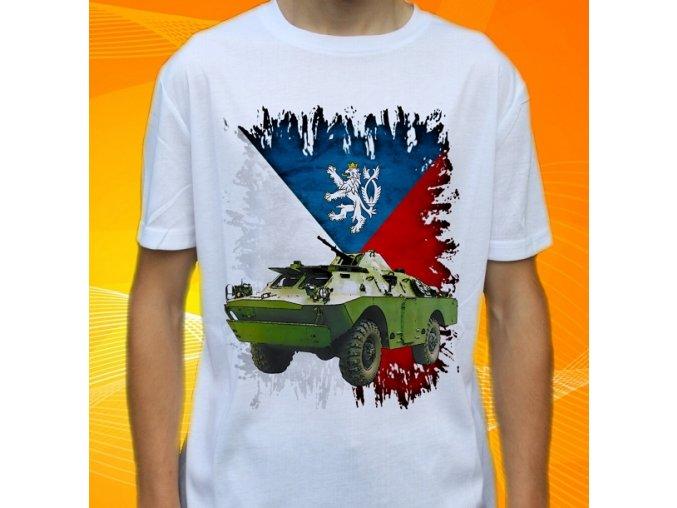 tričko, dětské, pánské, potisk, vojenské, brdm