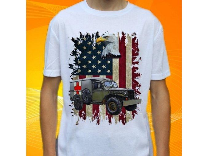 tričko, dětské, pánské, potisk, army, dodge