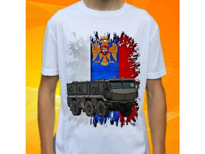 tričko, dětské, pánské, potisk, vojenské, kamaz