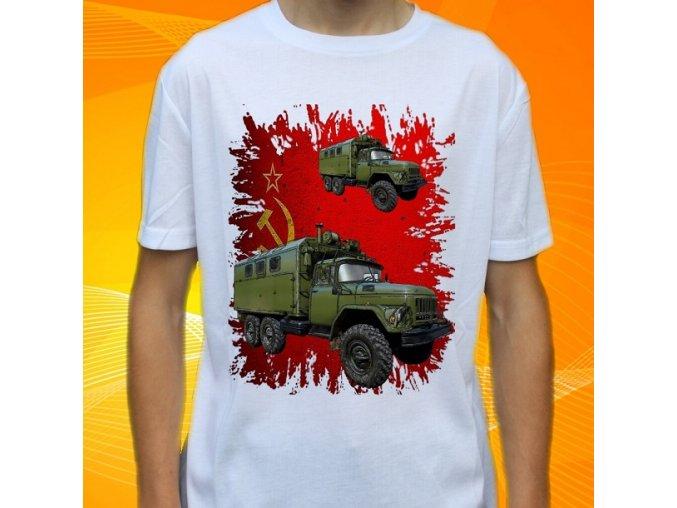 tričko, dětské, pánské, potisk, vojenské, zil