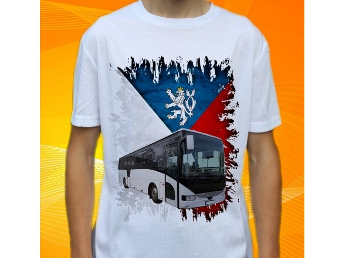 tričko, dětské, pánské, potisk, autobus, iveco