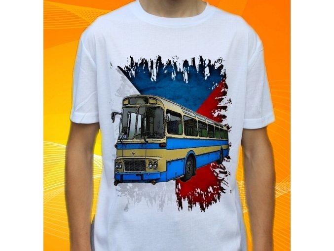 tričko, dětské, pánské, potisk, autobus, karosa mhd