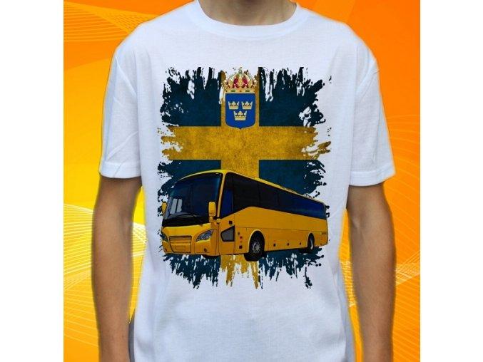 tričko, dětské, pánské, potisk, autobus, scania