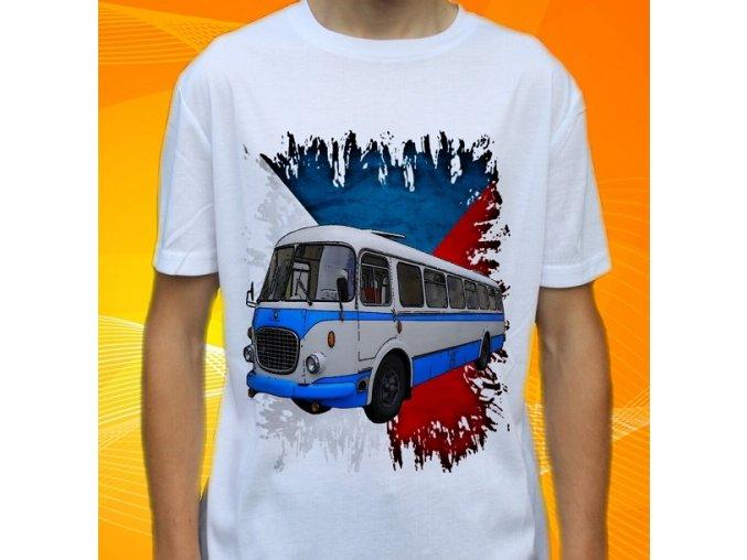 tričko, dětské, pánské, potisk, autobus škoda, veterán