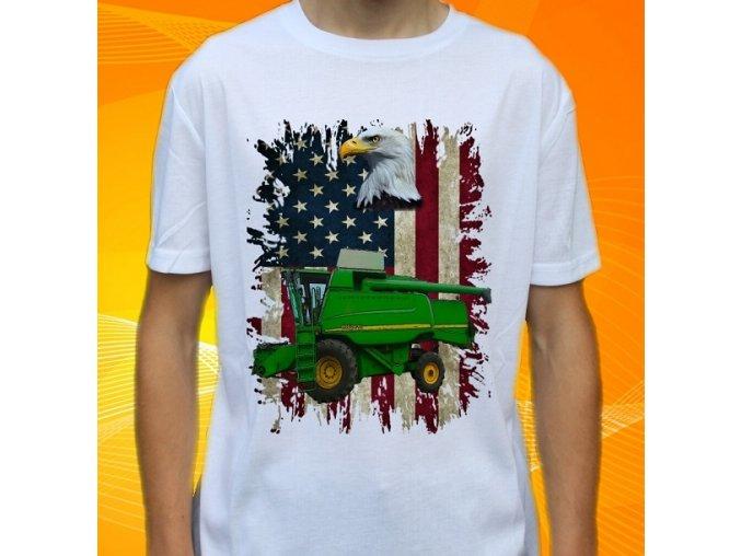 Dětské a pánské tričko s kombajnem John Deere 9660