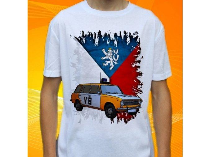tričko, dětské, pánské, potisk, veřejná bezpečnost, čssr