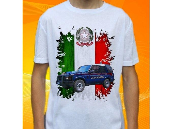 tričko, dětské, pánské, potisk, policie, land rover