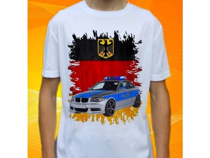 tričko, dětské, pánské, potisk, policie, octavia