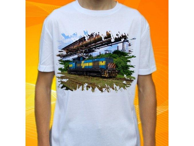 tričko, dětské, pánské, potisk, lokomotiva, madinka