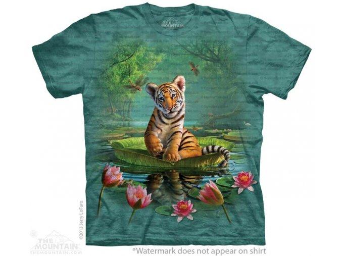 tričko, malý tygřík, batikované, potisk, mountain, dětské