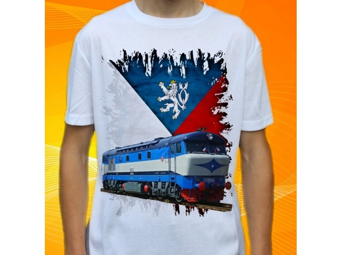 tričko, dětské, pánské, potisk, lokomotiva, bardotka