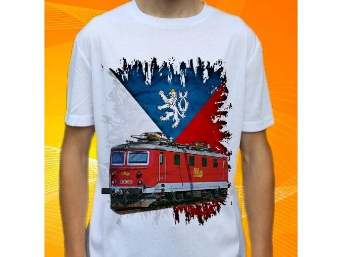 tričko, dětské, pánské, potisk, lokomotiva, elektrická