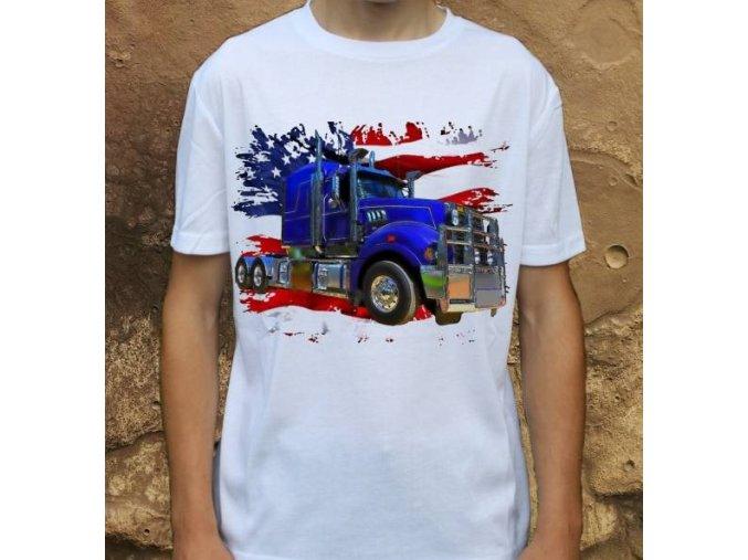 tričko, tahač, americký kamion, potisk, Mack