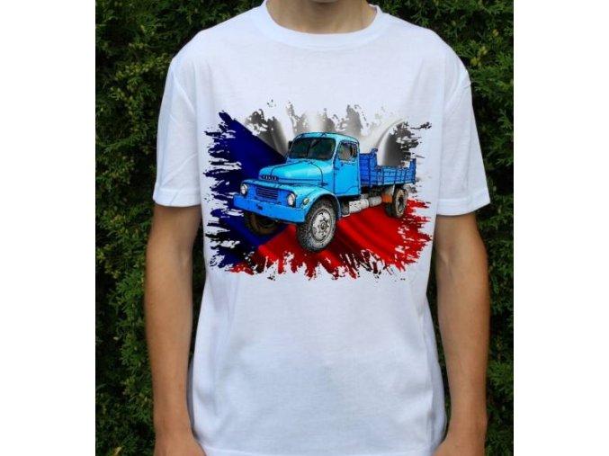 tričko, nákladní auto, potisk, praga s5t