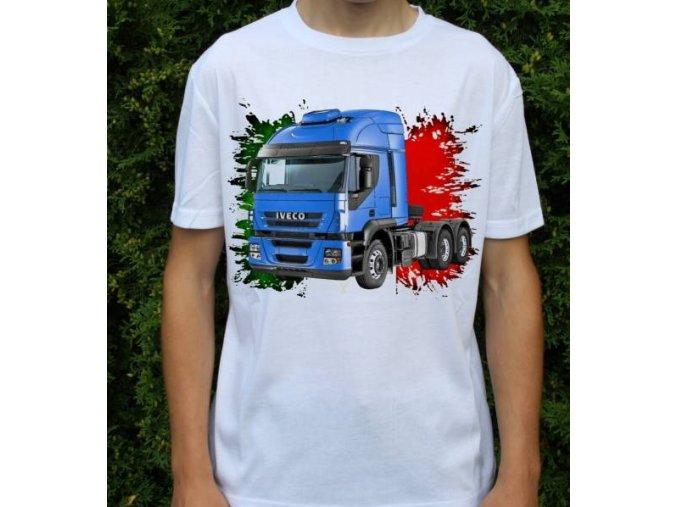 tričko, tahač, kamion, potisk, iveco stralis 450