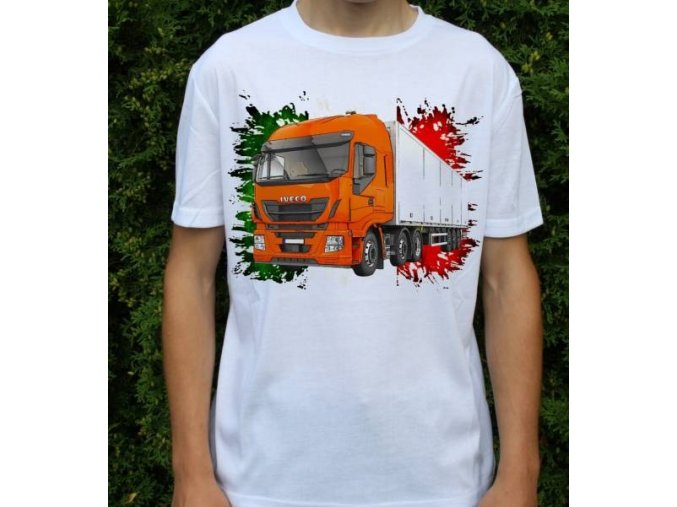 tričko, tahač, kamion, potisk, Iveco Stralis 500
