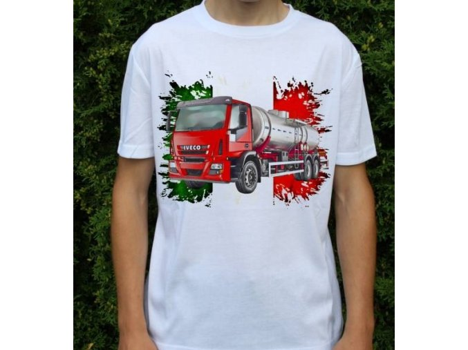 tričko, nákladní auto, cisterna, potisk, Iveco Tector 240e28