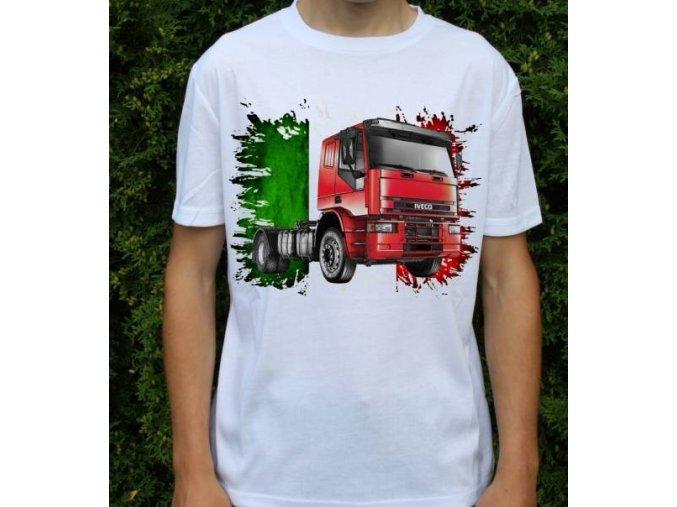 tričko, tahač, kamion, potisk, iveco 320