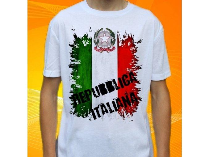 tričko, dětské, pánské, potisk, vlajka, itálie