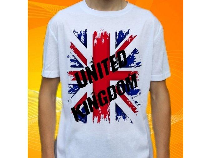 tričko, dětské, pánské, potisk, vlajka, anglie