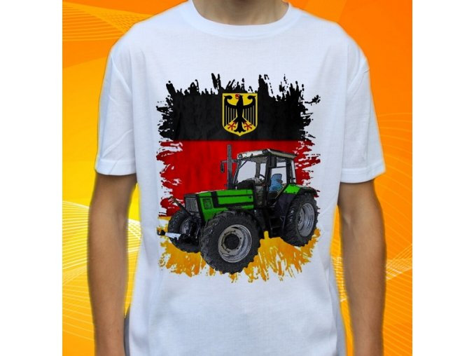 tričko, dětské, pánské, potisk. traktor, deutz fahr