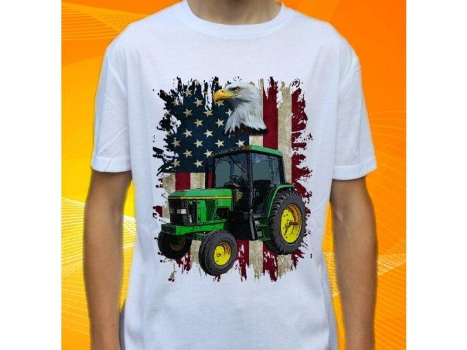 tričko, dětské, pánské, potisk. traktor, john deere