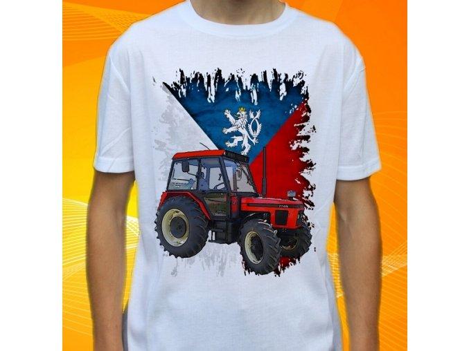 Dětské a pánské tričko s traktorem Zetor 7745 Čechy