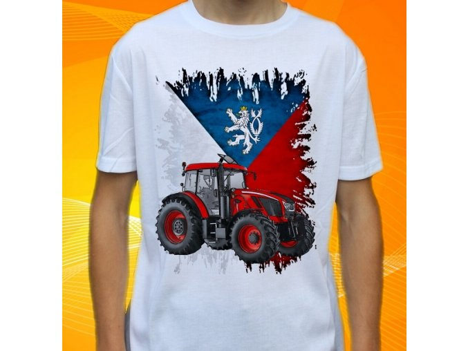Dětské a pánské tričko s traktorem Zetor Crystal 160 Čechy
