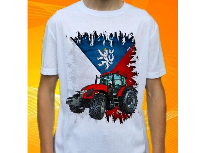 Dětské a pánské tričko s traktorem Zetor Fortera 150 Čechy