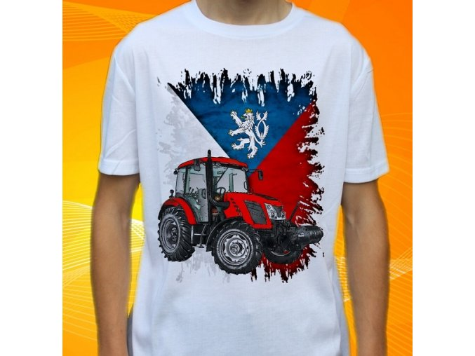 Dětské a pánské tričko s traktorem Zetor Proxima 110 Čechy