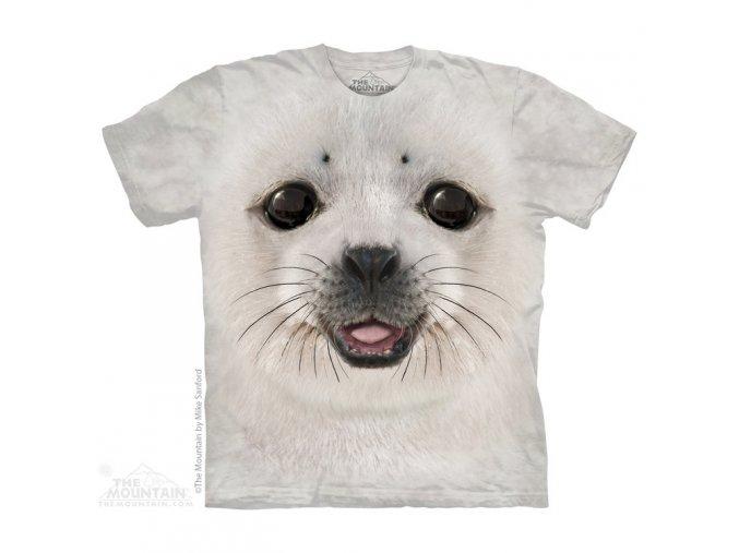 tričko, tuleň, 3d,  potisk, mountain, dětské