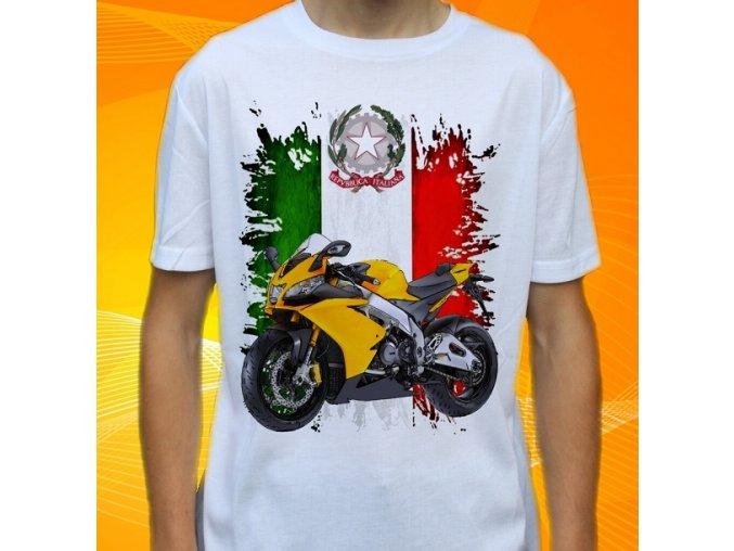 Dětské a pánské tričko s motorkou Aprilia