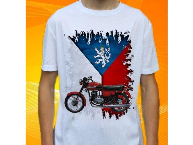 Dětské a pánské tričko s motorkou ČZ 175