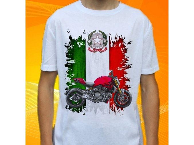 Dětské a pánské tričko s motorkou Ducati Monster