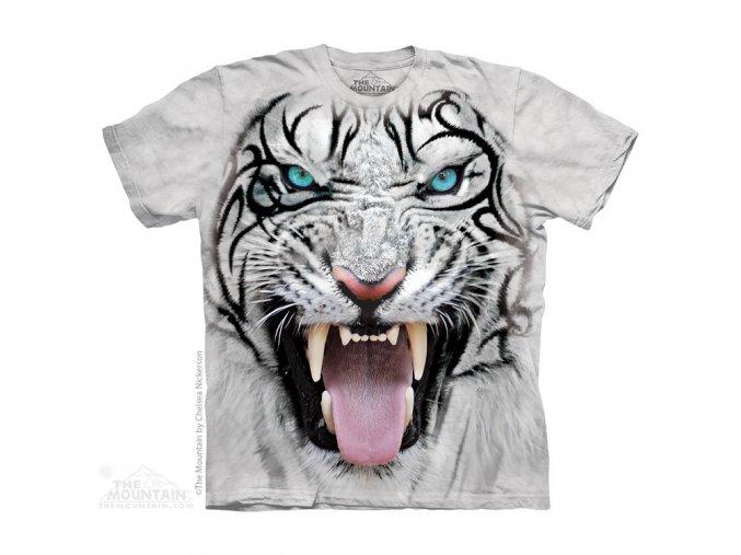 tričko, šelma bílý tygr, 3d, potisk, dětské, mountain