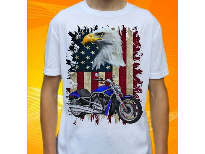 tričko, motorka, potisk, Harley Davidson