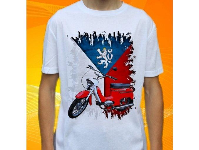 Dětské a pánské tričko s motorkou Jawa 20 Pionýr Čechy