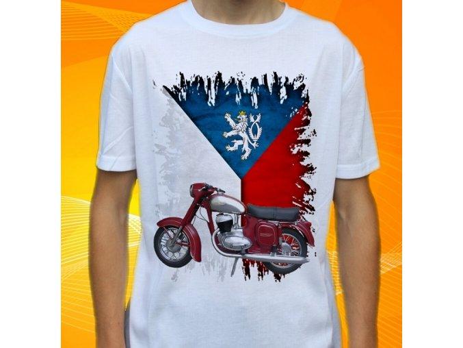 Dětské a pánské tričko s motorkou Jawa 250 Panelka