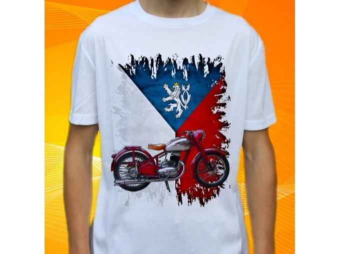 Dětské a pánské tričko s motorkou Jawa 250 Pérák