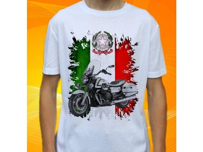 Dětské a pánské tričko s motorkou Moto Guzzi California