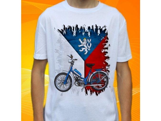 Dětské a pánské tričko s motorkou Stadion S11