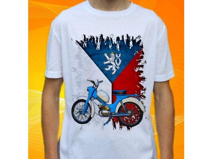 Dětské a pánské tričko s motorkou Stadion S22