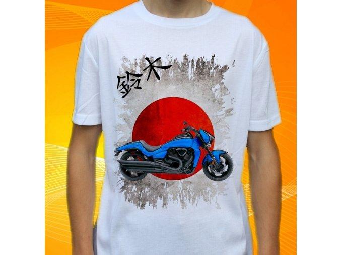 Dětské a pánské tričko s motorkou Suzuki Boulevard M109R
