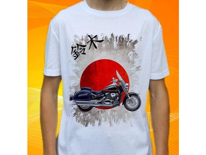Dětské a pánské tričko s motorkou Suzuki C90T